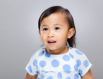 Cute multiracial baby girl Stock Images