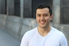 Cute multiracial male smiling with copy space.  Stock Photos