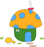 Cute mushroom home 2. A children art drawing for cute mushrooms home Stock Image