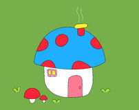 Cute mushroom home 3 Royalty Free Stock Image