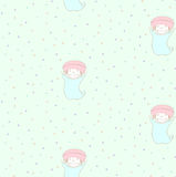 Cute mushroom pattern Stock Image