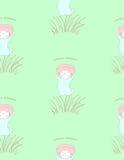 Cute mushroom pattern Royalty Free Stock Images