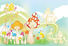 Cute mushrooms Stock Photography