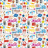 Cute music icon seamless pattern. Vector,illustration Royalty Free Stock Photos