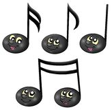 Cute music notes Royalty Free Stock Photo