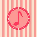Cute musical background Royalty Free Stock Photo
