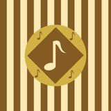 Cute musical background Royalty Free Stock Image