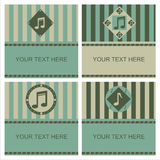 cute musical frames Royalty Free Stock Images