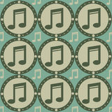 Cute musical pattern Royalty Free Stock Images