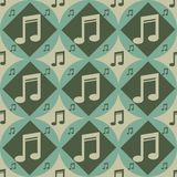 Cute musical pattern Royalty Free Stock Image