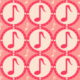 Cute musical pattern Stock Photo