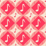 Cute musical pattern Stock Photos