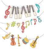 Cute musical signs Stock Image