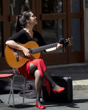 Cute musician. Royalty Free Stock Images