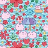 Cute natural stripe seamless pattern Royalty Free Stock Photo
