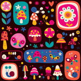 Cute nature pattern Royalty Free Stock Images