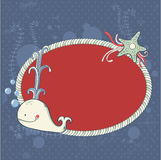 Cute nautical summer sea card Royalty Free Stock Image