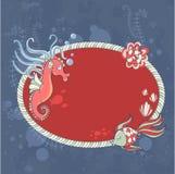 Cute nautical summer sea card Stock Images