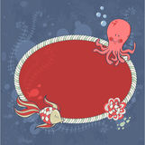 Cute nautical summer sea card Stock Photography