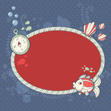 Cute nautical summer sea card Royalty Free Stock Photography