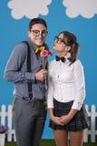 Cute nerd couple Royalty Free Stock Photo