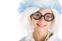 Cute nerd kid Stock Photos