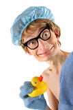 Cute nerd spa Royalty Free Stock Photo