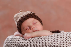 Cute new born boy Royalty Free Stock Images