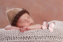 Cute new born boy Stock Photography