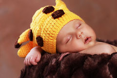 Cute new born boy. 1 month stock image