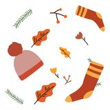 Seamless pattern with christmas socks. Vector illustration for Merry Christmas and Happy New Year print design royalty free stock photos