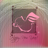 Cute new year's background Royalty Free Stock Images