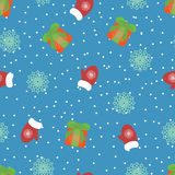Cute new year seamless pattern. Vector illustration Royalty Free Stock Photo