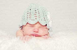 Cute newborn baby Royalty Free Stock Images