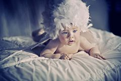 Cute newborn baby Stock Images