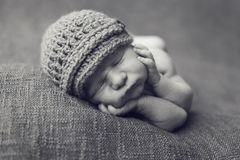 Cute newborn baby boy Royalty Free Stock Photos