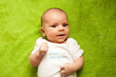Cute newborn baby boy portrait Royalty Free Stock Photography