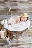 Cute newborn baby boy sleeping Stock Photo