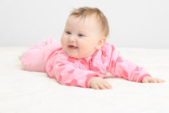 Cute newborn baby girl Royalty Free Stock Images