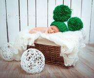 Cute newborn baby sleeps Stock Images
