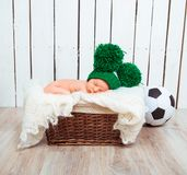 Cute newborn baby sleeps Royalty Free Stock Images