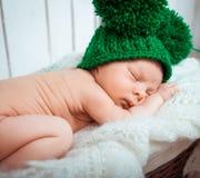 Cute newborn baby sleeps Stock Image