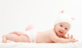 Cute newborn portrait Royalty Free Stock Images