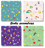 Cute Newborn seamless patterns. Stock Photography