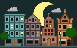 Cute Night city Stock Photography