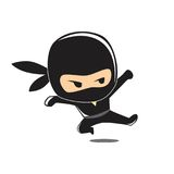 CUTE NINJA Stock Photography