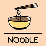 Cute noodle hand-drawn style, vector illustration. Cute noodle hand-drawn style,drawing,hand drawn vector illustration Stock Images