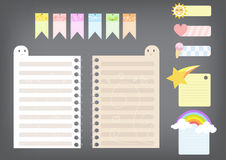 Cute note pad Stock Photos
