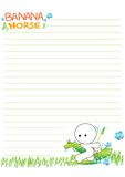 Cute note paper Stock Images
