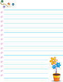 Cute note paper. Illustration of cute note paper stock illustration